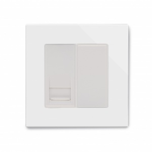Crystal PG Telephone BT Master Socket White