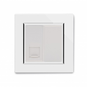 Crystal CT RJ11 Socket White