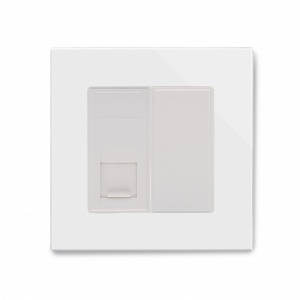 Crystal PG Single CAT6e Socket White