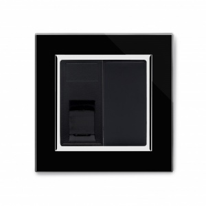 Crystal CT RJ11 Socket Black