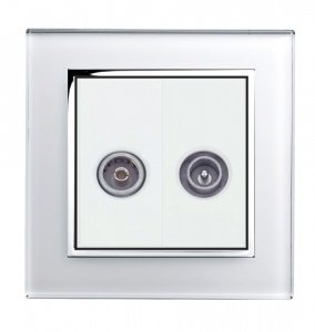 Crystal CT TV - FM Socket White