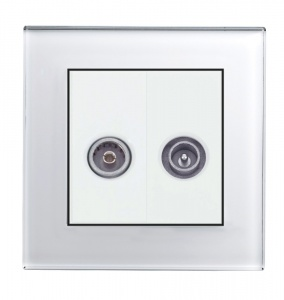 Crystal PG  TV - FM Socket White