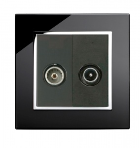 Crystal CT TV - FM Socket Black