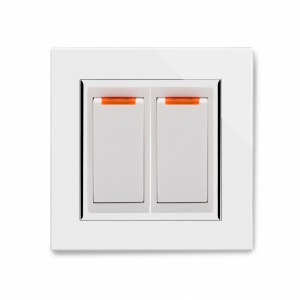 Crystal CT 20A Dual Switch with Neon White
