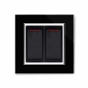 Crystal CT 20A Dual Switch with Neon Black