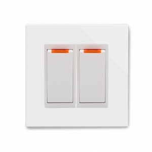 Crystal PG 20A Dual Switch with Neon White