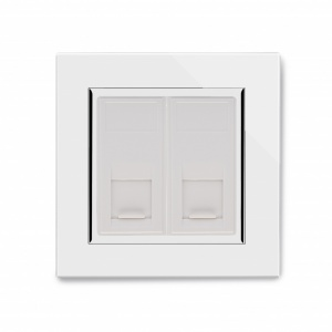 Crystal CT Dual CAT5e Socket White