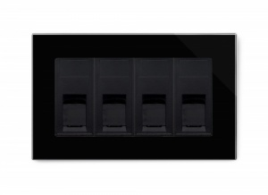 Crystal PG Quad CAT6e Socket Black