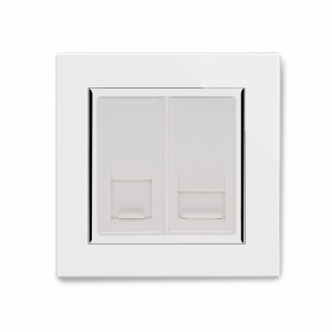 Crystal CT CAT5e / BT Master Tel Socket White
