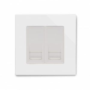 Crystal PG BT Master/BT Slave Telephone Socket White