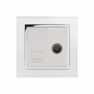 Crystal CT CAT6e / TV Socket White