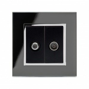 Crystal CT Satellite / TV Socket Black