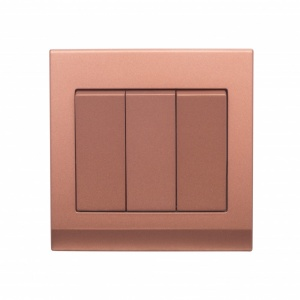 Simplicity Mechanical Light Switch 3 Gang Copper/Bronze