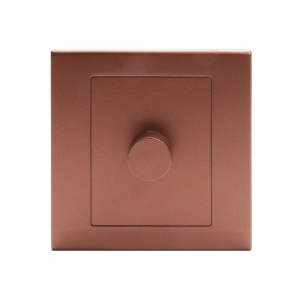 Simplicity LED Dimmer Light Switch 1 Gang 2 Way Copper /Bronze
