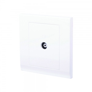 Simplicity Single Coaxial TV Socket White