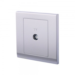 Simplicity Single Coaxial TV Socket Mid Grey