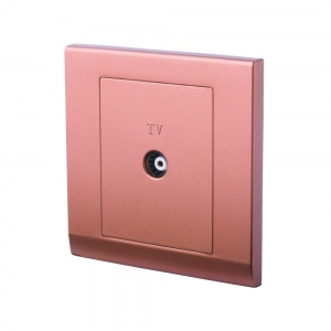 Simplicity Single Coaxial TV Socket Bronze