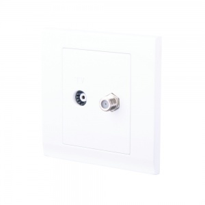 Simplicity Coaxial TV + Satellite Socket White
