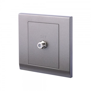 Simplicity Coaxial Satellite Socket Charcoal