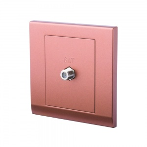 Simplicity Coaxial Satellite Socket Bronze