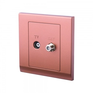 Simplicity Coaxial TV + Satellite Socket Bronze