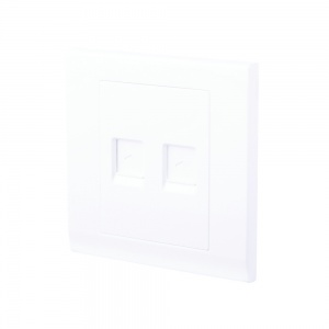 Simplicity Double CAT5e Socket White
