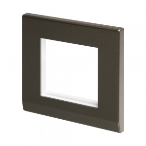 SIMPLICITY EURO 2 MODULE PLATE CHARCOAL