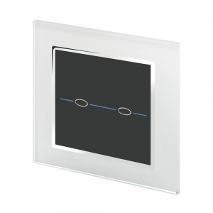 Crystal CT 2 Gang Touch Light Switch White