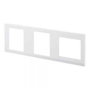 Retrotouch Simplicity Hotel plate 3 Gang Cover White