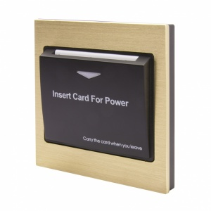 Energy Key Card Saver - Brass Metal