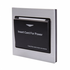 Energy Key Card Saver - Aluminium with Black