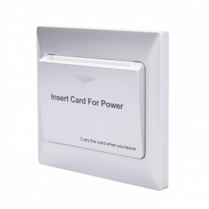 Energy Key Card Saver - Silver Plastic