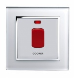 45A Cooker switch with Neon DP White CT