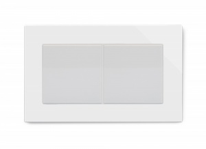 Crystal PG Double Blank Socket White