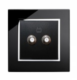 RTS2000 SATELLITE double Socket Black