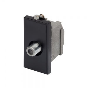 RT SAT F-Connector Outlet (25mmx50mm) Black