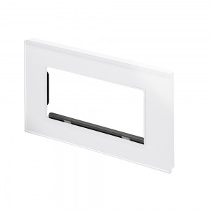 Spare Panel for Crystal Double socket White