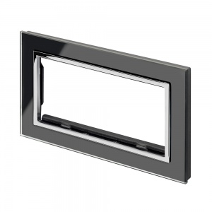Spare Panel for Crystal Double socket Black