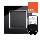 RTS2020DL LED Dimmer Touch & Remote Light Switch 1 Gang Black