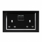 RTS2000 13A DP Double Plug Socket with Switch CT Black