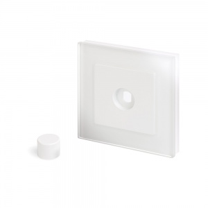 Crystal PG 1 Gang LED Dimmer Plate White