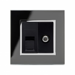 Crystal CT Cat5e / SAT Socket Black