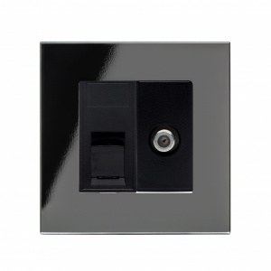 Crystal PG Cat5e / SAT Socket Black