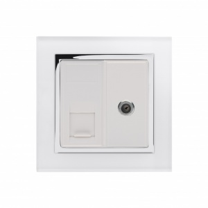 Crystal CT Cat5e / SAT Socket White