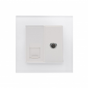 Crystal PG Cat5e / SAT Socket White