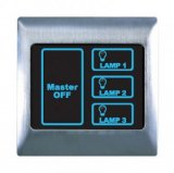 Boutique Metal Touch & Remote Light Switch 3 Gang