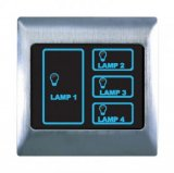 Boutique Metal Touch & Remote Light Switch 4 Gang