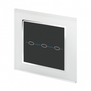 Crystal CT Wirefree Touch Light Switch 3 Gang White