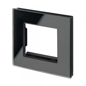 Spare Panel for Crystal Single switch or socket Black