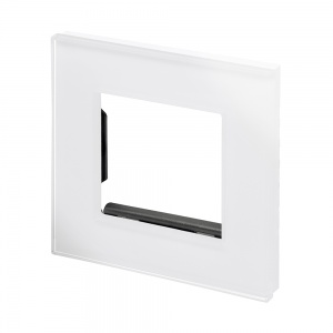 Spare Panel for Crystal Single switch or socket White